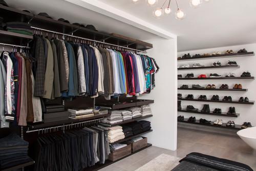 armario contemporáneo de la closet design