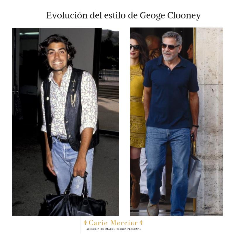 evolución del estilo de George Clooney